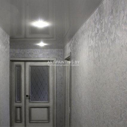 Фактурная штукатурка в коридоре