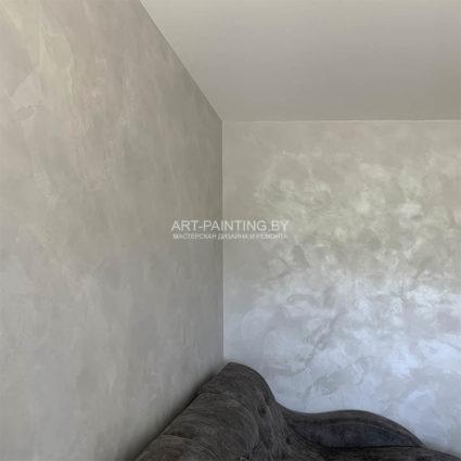 Декоративная штукатурка в комнате