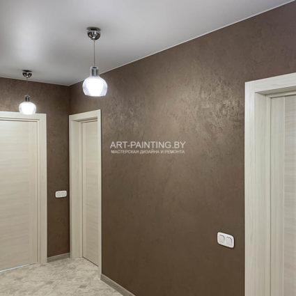 Декоративная штукатурка в коридоре фото