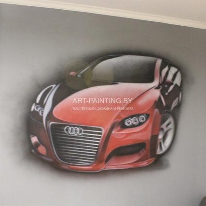 Роспись стен в детской комнате для мальчика