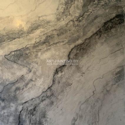 Белый мрамор из венецианской штукатурки
