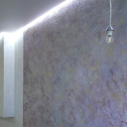 Акцентная стена из декоративной штукатурки