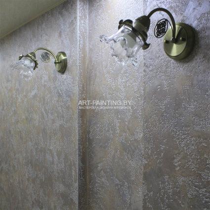 Фото декоративной штукатурки в коридоре